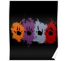 Prime Beams Splatter (Transparent Symbols) Poster