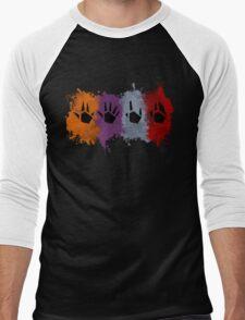 Prime Beams (Splatter) Men's Baseball ¾ T-Shirt