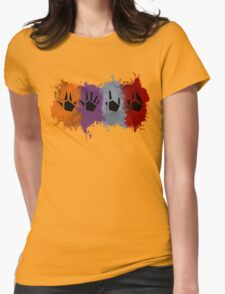 Prime Beams (Splatter) Womens Fitted T-Shirt