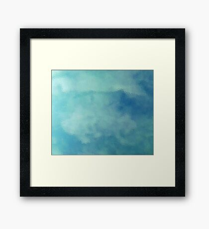 Clouds on Water Framed Print