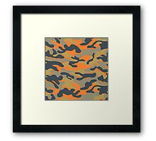 Military Camouflage Pattern 4 Framed Print