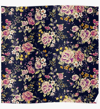 Floral pattern 1 Poster