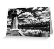 Lighthouse Along the Fox River Geneva, Illinois Greeting Card