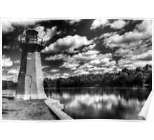 Lighthouse Along the Fox River Geneva, Illinois Poster