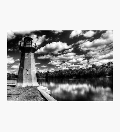 Lighthouse Along the Fox River Geneva, Illinois Photographic Print