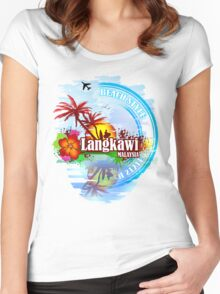Langkawi Malaysia Women's Fitted Scoop T-Shirt
