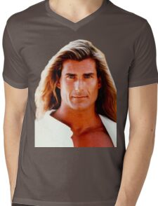 Yeah The Boys Fabio Mens V-Neck T-Shirt