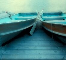 Row Boats At Pyramid Lake by Bob Christopher