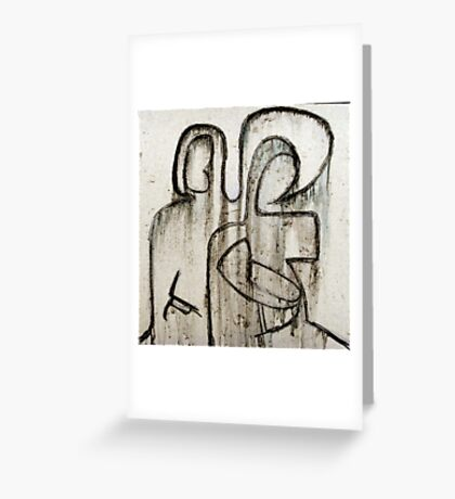 Joseph and Mary with child Greeting Card