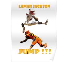 LAMAR JACKSON IN ACTION Poster