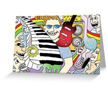 Musical Birthday 2 Birthday Card Illustration Greeting Card