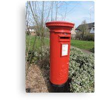 Huntingdon Postbox Canvas Print
