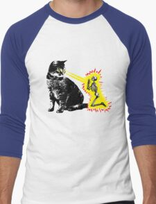 What your cat is really thinking, cat death ray Men's Baseball ¾ T-Shirt