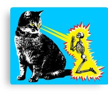 What your cat is really thinking, cat death ray Canvas Print