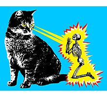 What your cat is really thinking, cat death ray Photographic Print