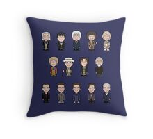 The Fourteen Doctors (pillow or bag) Throw Pillow