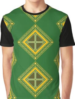 Baroque 2 Green Graphic T-Shirt
