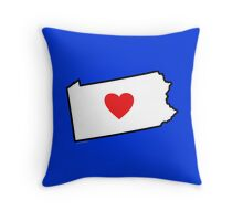 I Love Pennsylvania Throw Pillow