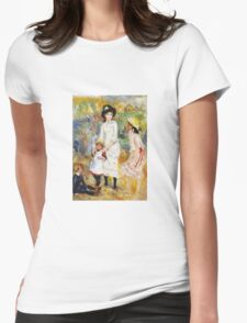 Renoir Auguste - Children On The Seashore 1883 Womens Fitted T-Shirt