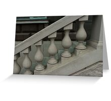 staircase with balusters Greeting Card