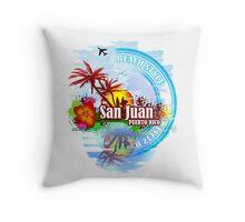 San Juan Puerto rico Throw Pillow