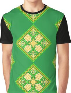 Baroque 3 Green Graphic T-Shirt