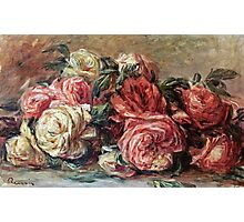Renoir Auguste - Discarded Roses  Photographic Print