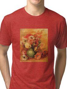 Renoir Auguste - Flowers Tri-blend T-Shirt