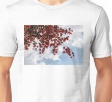 Japanese Maple Red Lace - Horizontal View Downwards Right Unisex T-Shirt