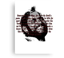 Beware The Beast Man (1) - Planet of the Apes Canvas Print