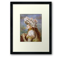 Renoir Auguste - Girl In A Lace Hat 1891 Framed Print