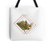 Flower Print Tote Bag