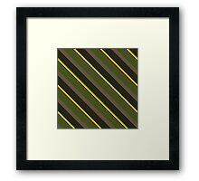 Cactus Garden Stripes 5D Framed Print