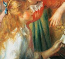 Renoir Auguste - Girls At The Piano 1892 Sticker
