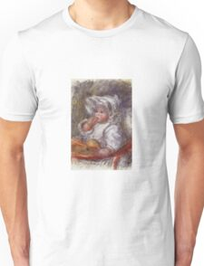 Renoir Auguste - Jean Renoir In A Chair Child With A Biscuit Unisex T-Shirt