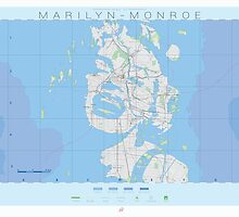 Map of Marilyn Monroe - Famous Maps by JeppeRingsted