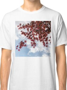 Japanese Maple Red Lace - Horizontal View Downwards Left Classic T-Shirt