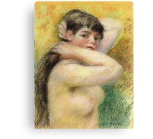 Renoir Auguste - Nude Arranging Her Hair 1885 Canvas Print