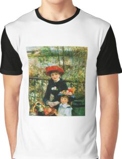 Renoir Auguste - On The Terrace 1881 Graphic T-Shirt