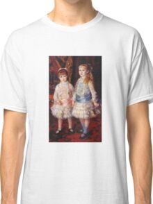 Renoir Auguste - Pink And Blue 1881 Classic T-Shirt