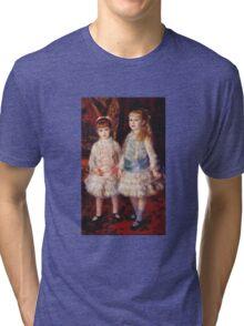Renoir Auguste - Pink And Blue 1881 Tri-blend T-Shirt