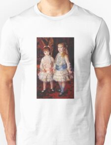 Renoir Auguste - Pink And Blue 1881 Unisex T-Shirt