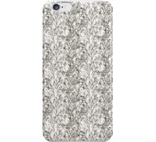 Black and White Floral iPhone Case/Skin