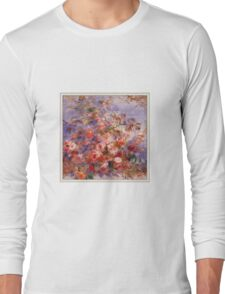 Renoir Auguste - Roses By The Window Long Sleeve T-Shirt