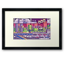 sonic the hedgehog - chemical plant zone Framed Print