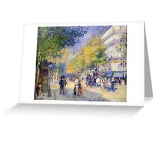 Renoir Auguste - The Great Boulevards 1875 Greeting Card