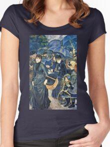 Renoir Auguste - The Umbrellas  Women's Fitted Scoop T-Shirt