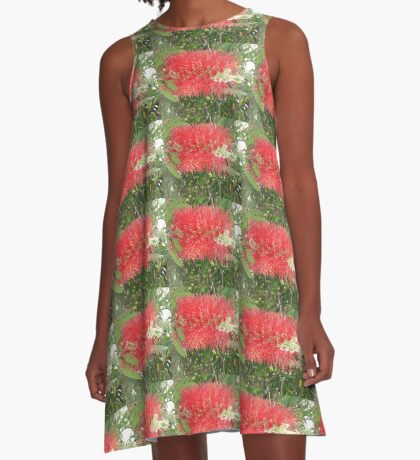 Red, Green & Aussie A-Line Dress