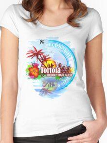 Tortola British Virgin Island Women's Fitted Scoop T-Shirt