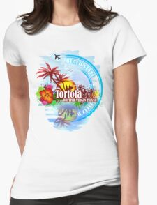Tortola British Virgin Island Womens Fitted T-Shirt